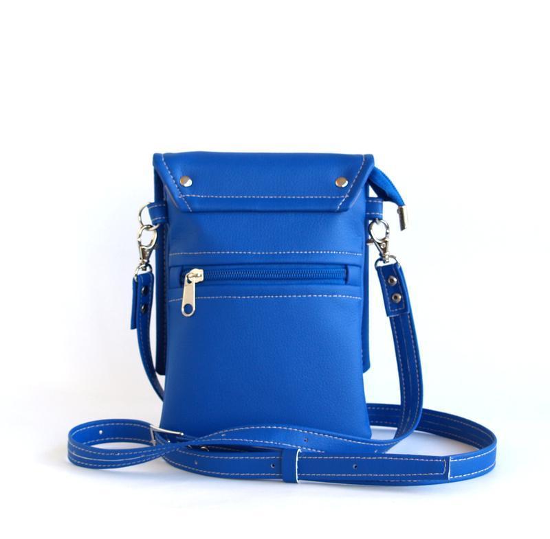 Ярко синяя сумочка через плечо