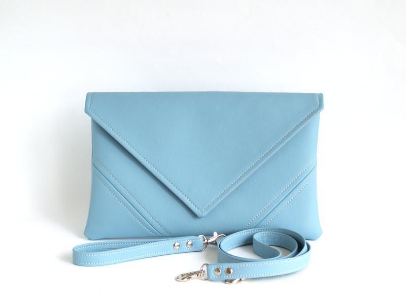 Светло голубой клатч / Голубая сумочка через плечо