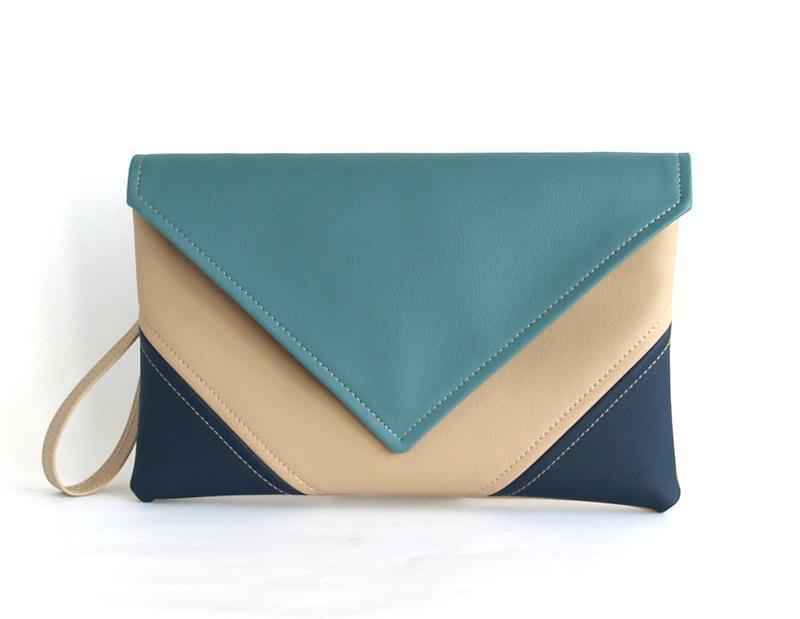 Сине голубой клатч / Голубая сумочка