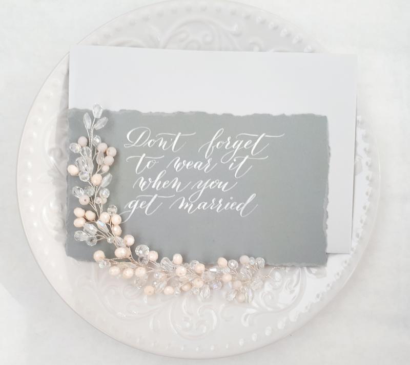 Свадебная веточка для прически
