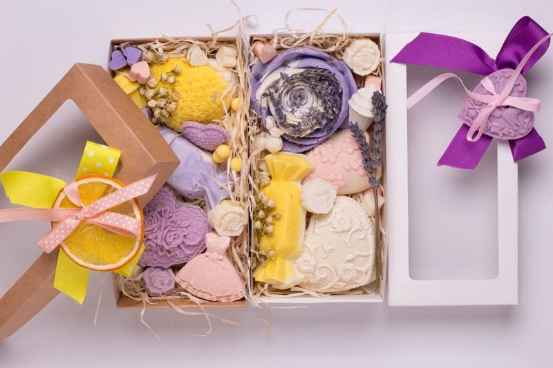 Подарочный набор с растительными мылами от Мир Мыла