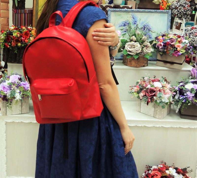 34388981251a Дизайнерский красный рюкзак из эко-кожи ручной работы купить в ...