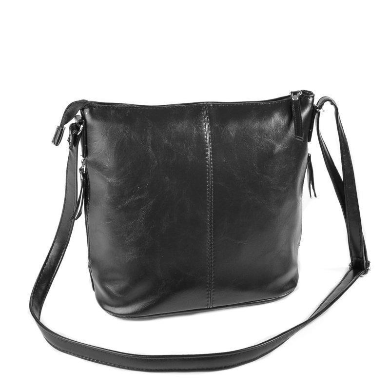 654ea6fef0ed Женская сумка на длинном ремне Черная М78 ручной работы купить в ...