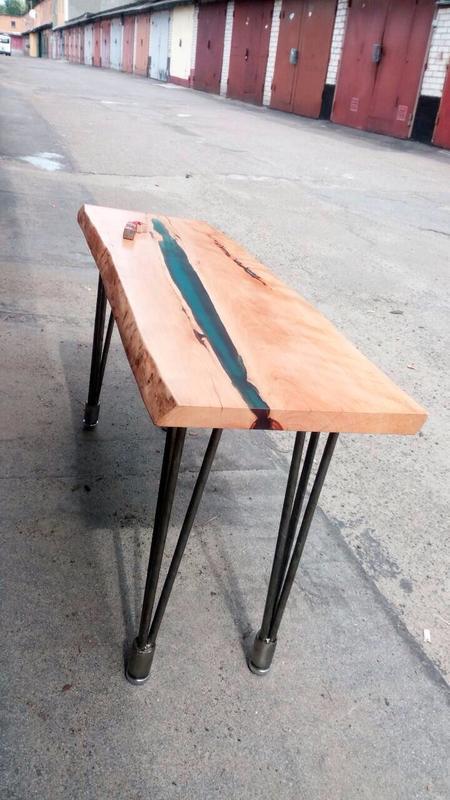 продан кофейный столик река дерево слэб эпоксидная смола Live