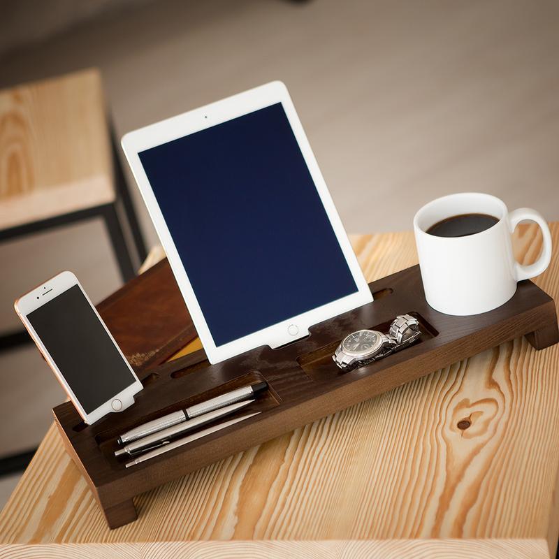 Деревянная подставка для телефона и планшета DABO Waid DS3