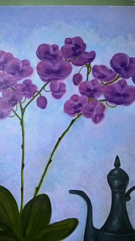 """Натюрморт маслом """"Орхидеи"""""""