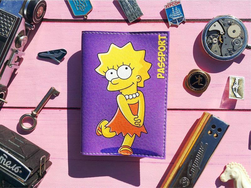 Обложка на паспорт, Лиза Симпсон, паспортная обложка, обложка для паспорта