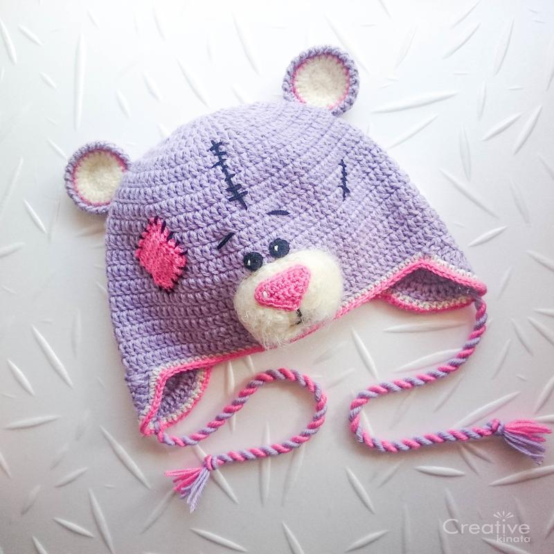 Шапка-зверушка Мишка Тедди