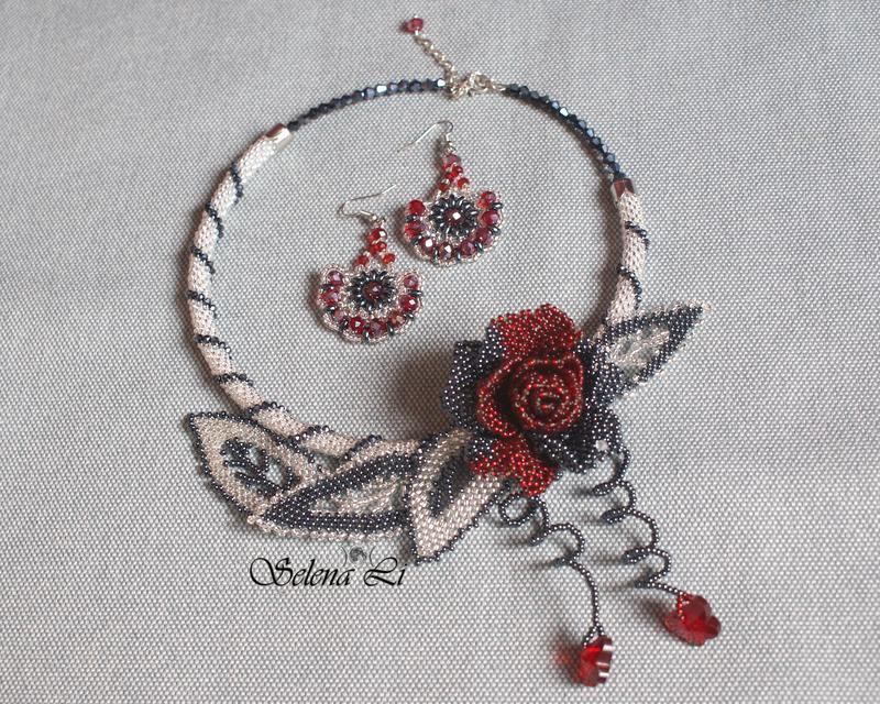 Комплект ′Каменный цветок′