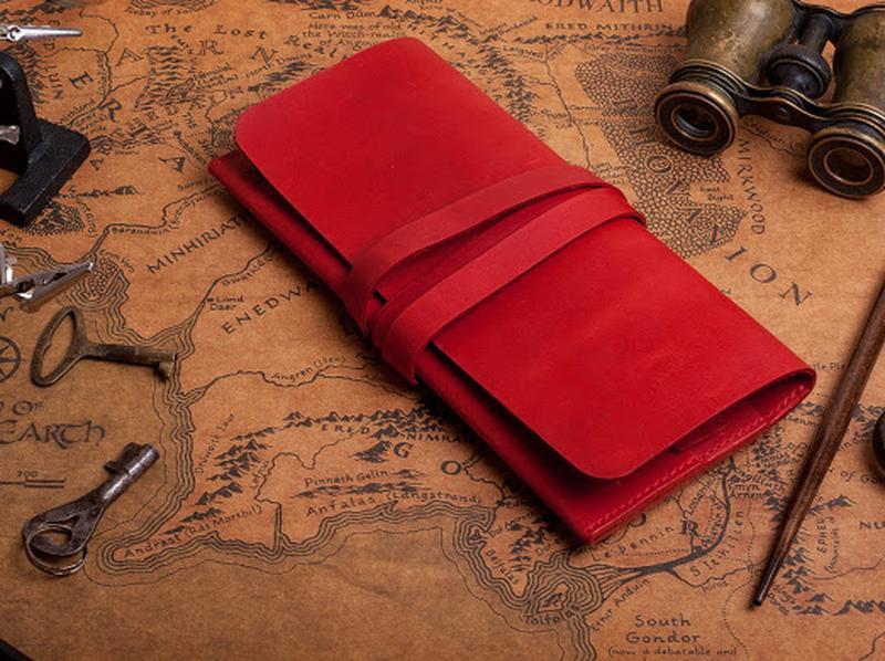Шкіряний жіночий червоний клатч 1_0025М_ANN