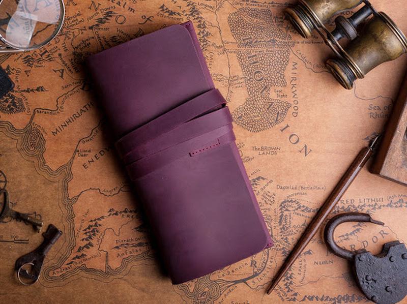 Кожаный клатч цвета марсала 1_0025М_ANN
