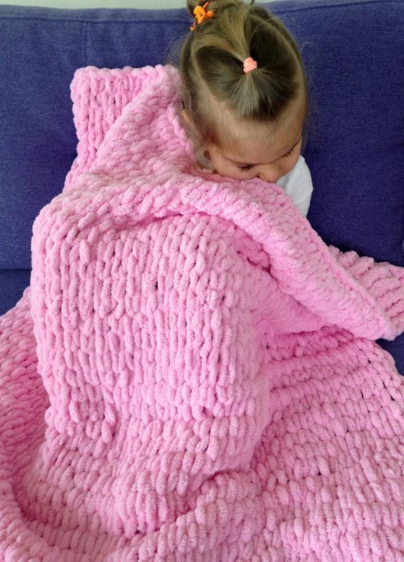 детский плед для малыша вязаный плед одеялко для ребенка ручной