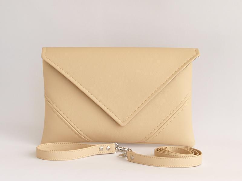 Бежевый клатч / Кремовая сумочка на плечо