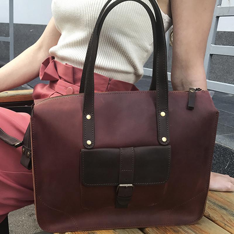 bf2ccfc30bbf Коричневая кожаная женская сумка на плечо ручной работы купить в ...