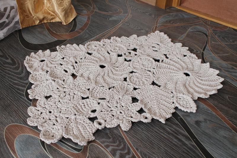 вязаный коврик ручной работы купить в украине 202423