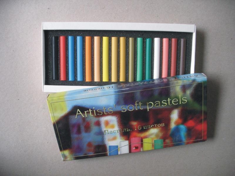 Пастель  Artists soft pastels 16 цветов.