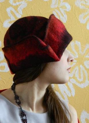 """фантазийная шляпа """"Роза""""ручной работы"""
