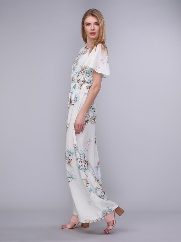 Длинное платье молочного цвета (XS)