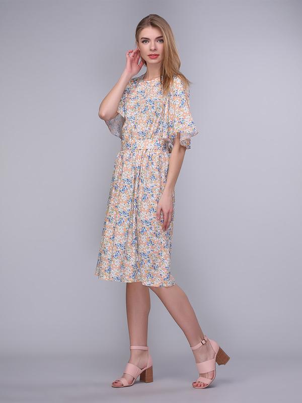 cfa30c3f051 Платье персиковое с вырезом и завязкой на спинке ручной работы ...
