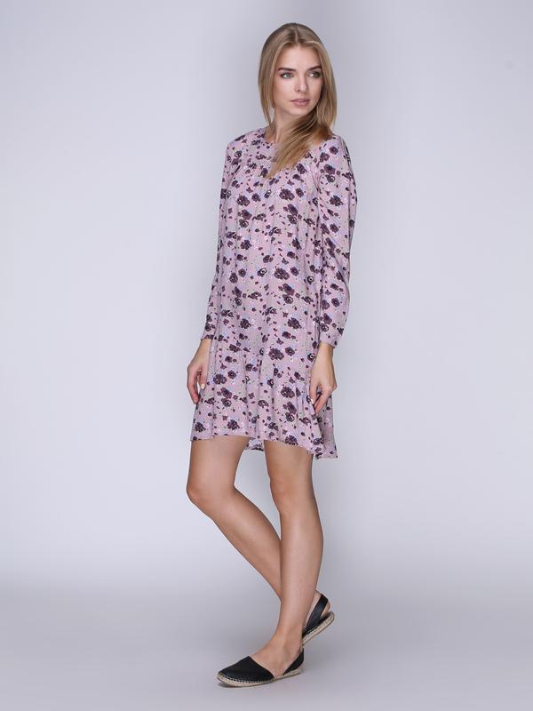 Платье розовое в цветы (XS)