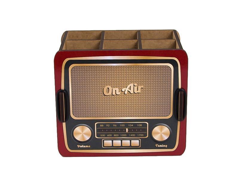Органайзер для ручек и карандашей «Винтажное Радио»