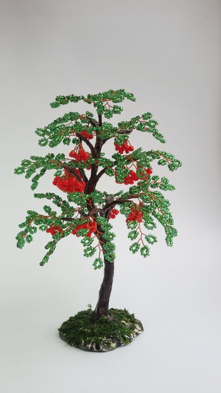 """Дерево из бисера """"Рябина"""""""