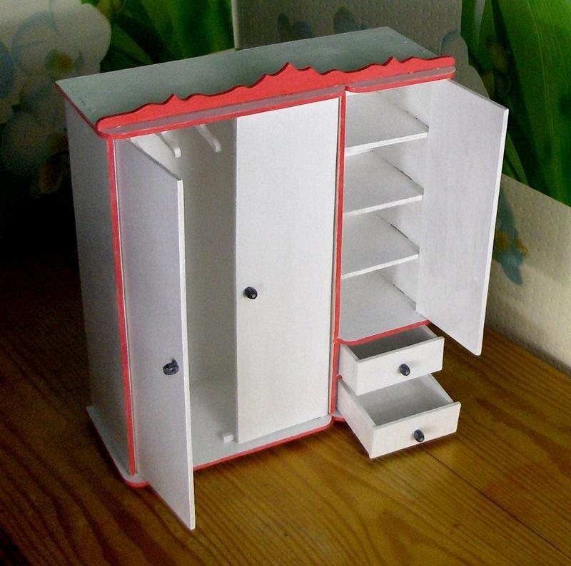 шкаф для кукол барби кукольная мебель ручной работы купить в