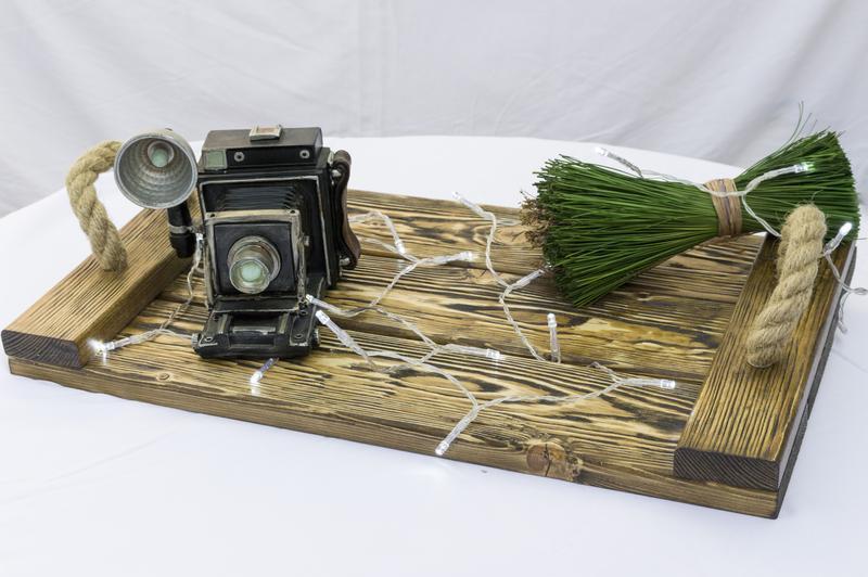 Брошированный поднос, фотофон