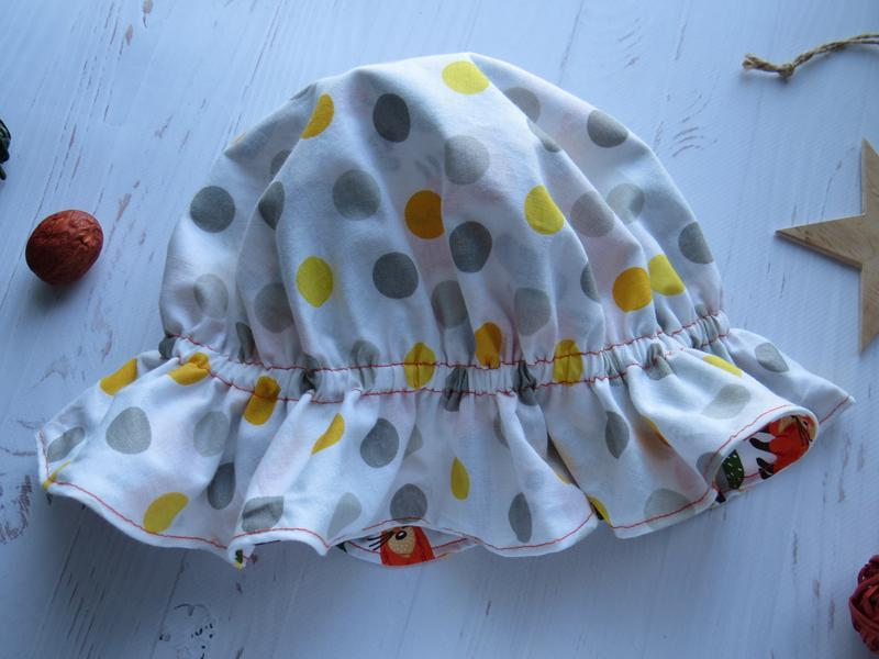 Панамка детская на голову от солнца, двусторонняя панамка
