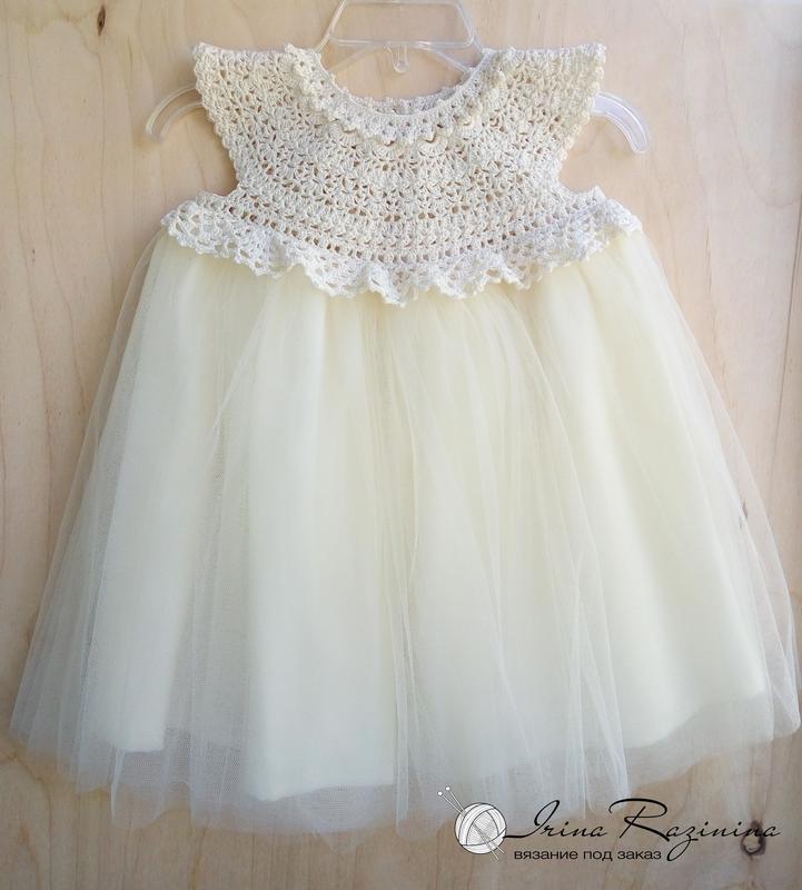 55685d5996b Нарядное платье для девочки с пышной юбкой ручной работы купить в ...