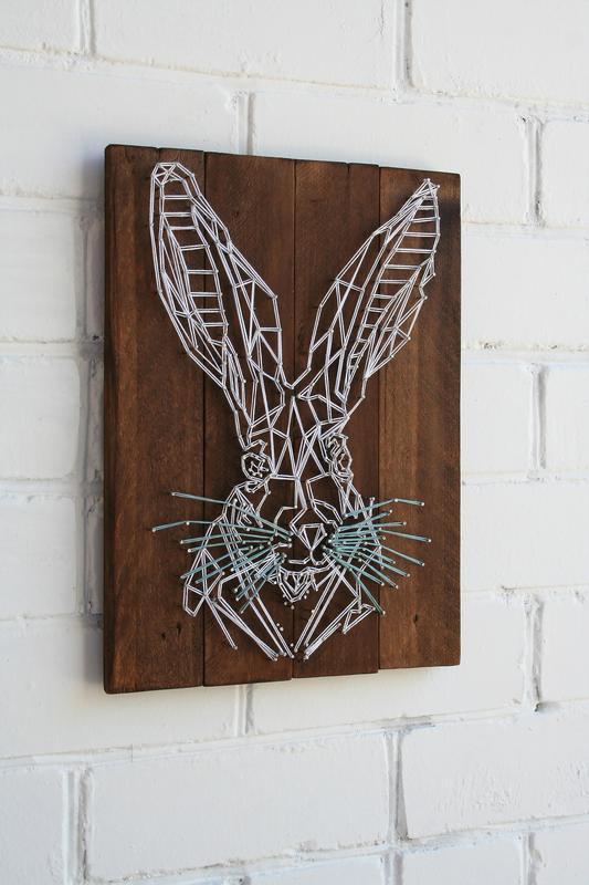 Заяц геометрия?в технике stringart