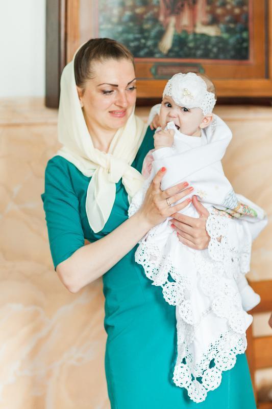 Крыжма ручной работы для крещения ребенка