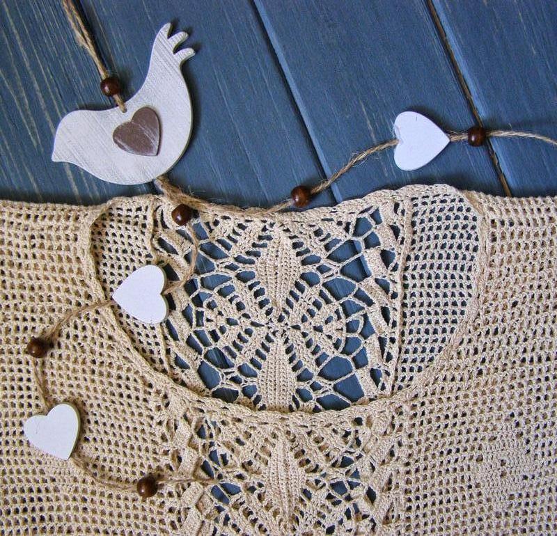 Ажурное платье вязаное крючком