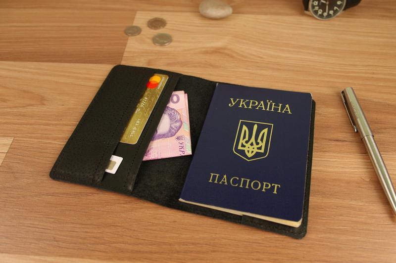 Обложка на паспорт натуральная кожа для паспорта