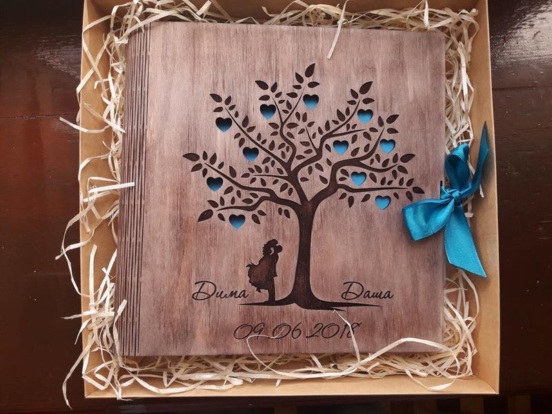 Весільний альбом з дерева!