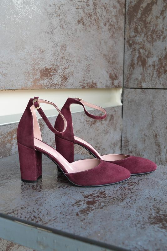 05474084c Kylie Burgundy - туфли на устойчивом каблуке ручной работы купить в ...