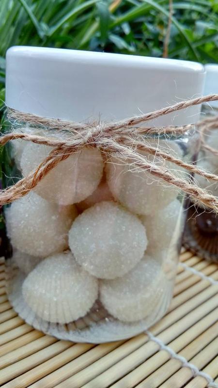 Натуральный сахарно-соляной скраб для тела ,,Сладкие шарики,, -Раффаэлло