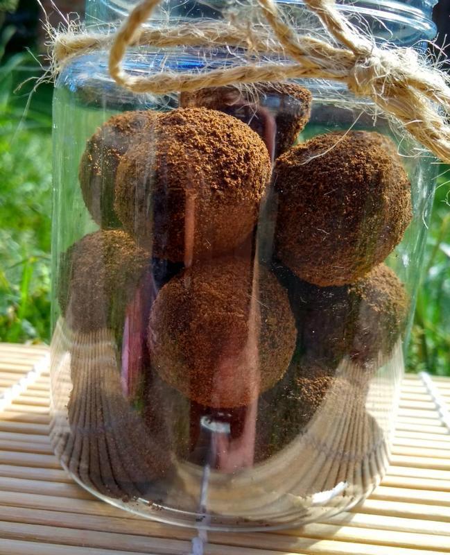 Натуральный сахарно-соляной скраб для тела ,,Сладкие шарики,, -Трюфель