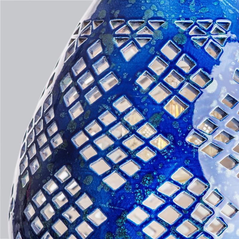 Подвесной светильник люстра  Heart cobalt керамика ясень