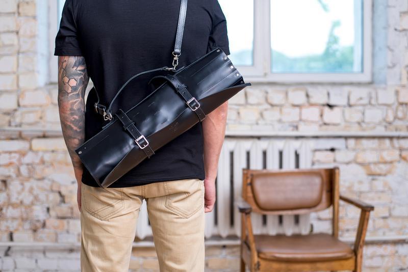 Кожаная сумка чехол для ножей Spich