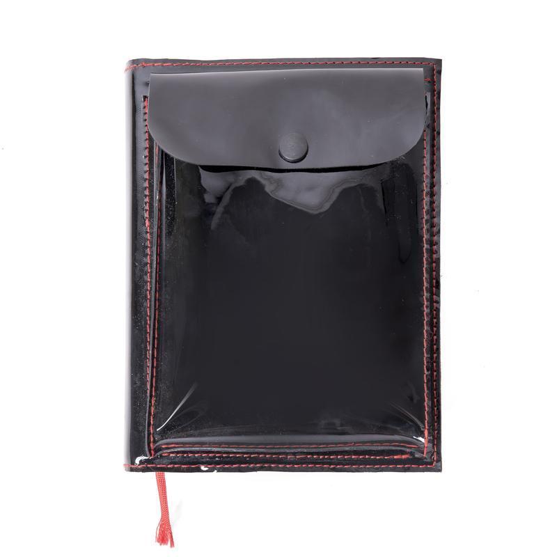 Черная кожаная обложка для блокнота А5