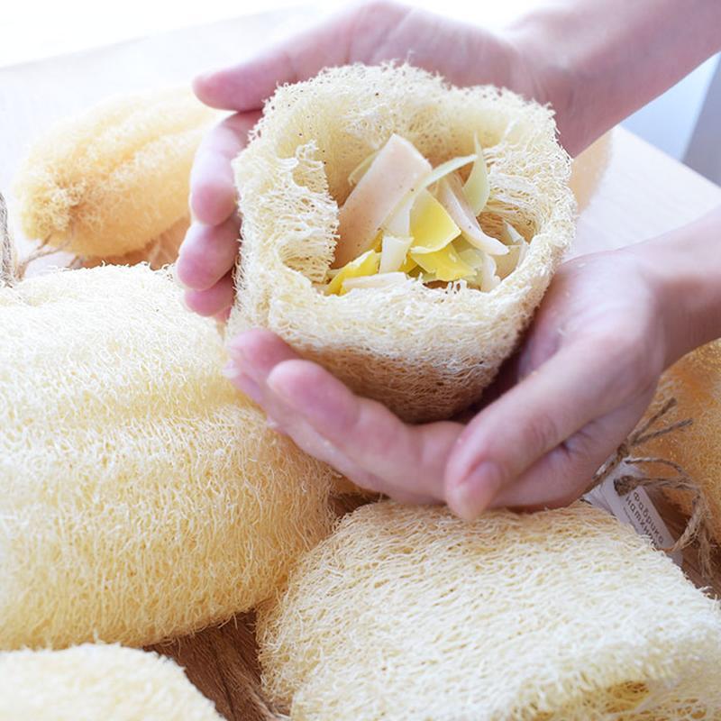 Мочалка из люффы с натуральным мылом внутри - Цветы-травы