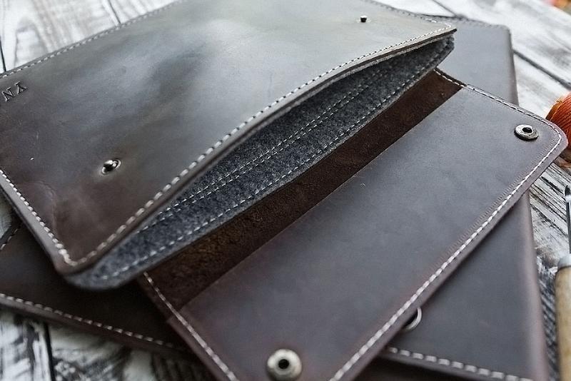 кожаный чехол с войлоком для ноутбука/планшета