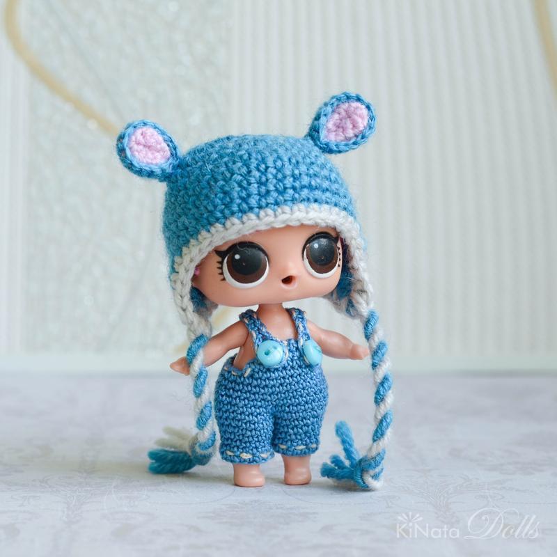 Шапочки-зверушки для куклы ЛОЛ (LOL Surprise)