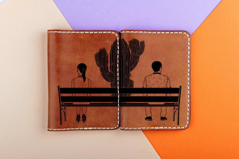 """Парные обложки на паспорта """"Кактус"""""""
