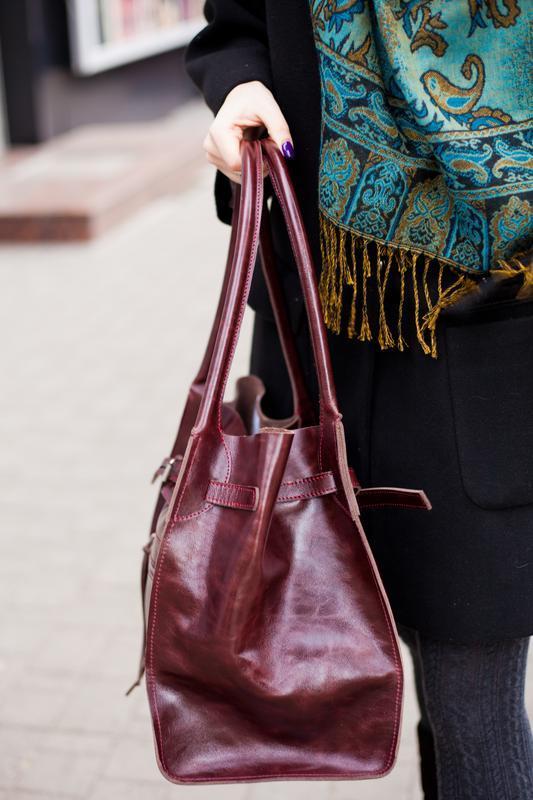 Кожаная сумка стиль Celine