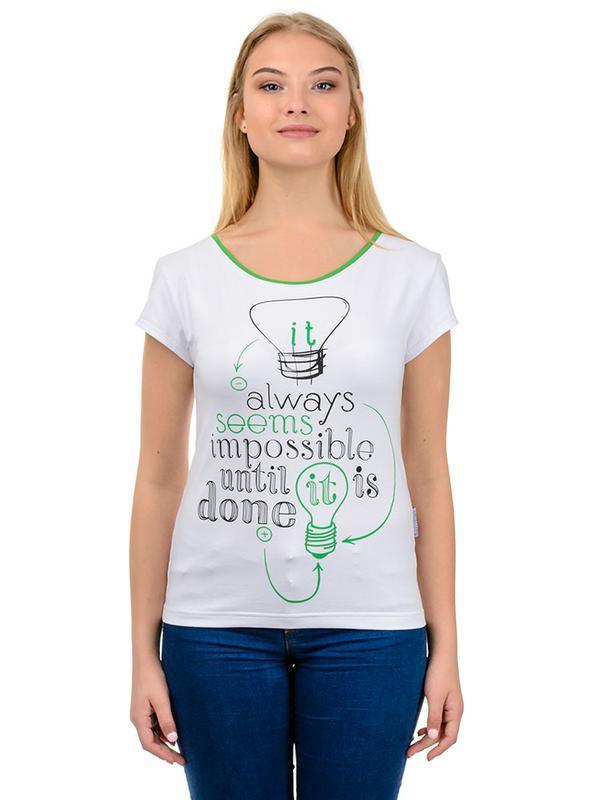 Жіноча футболка з принтом Seems Impossible ручной работы купить в ... bdb0d544f1319