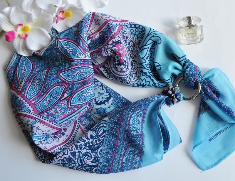 """""""Натхнення кольором"""" шифоновий шарф, шифоновий хустка, шарф-намисто, шарф-краватка"""