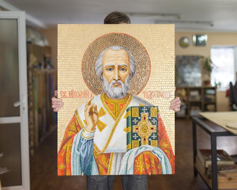 Николай чудотворец мозаика 1satin ru официальный сайт