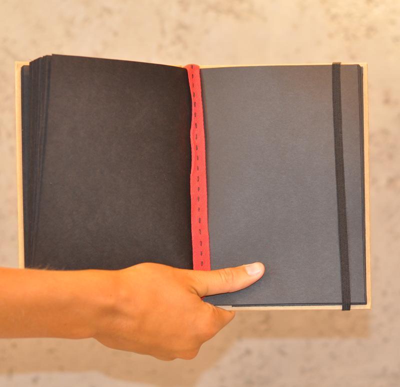 Черный креативный блокнот, скетчбук на подарок